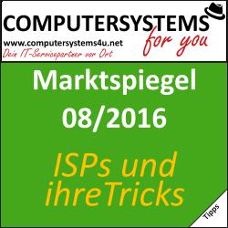 Marktspiegel 08/09 2016: Internetanbieter und ihre Tricks