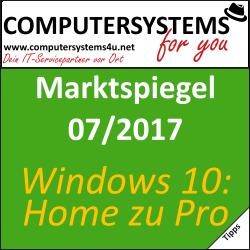 Marktspiegel 07/2017: Windows 10 von Home auf Pro aufrüsten