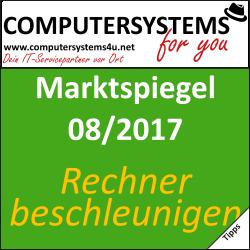 Marktspiegel 08/2017: Beschleunige Deinen PC!