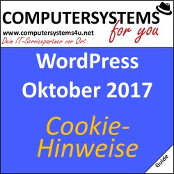 Information: Cookie-Hinweise bei Websites