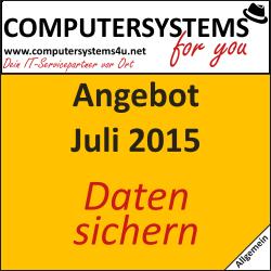 Angebot für Datensicherung vom 08.07.2015