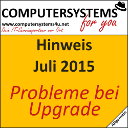 Windows 10 Upgrade: Schwierigkeiten (Nachtrag)