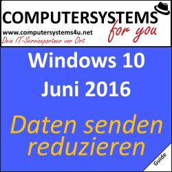 Windows 10: Datenübermittlungen eingrenzen