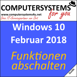 Guide: Funktionen in Windows 10 abschalten