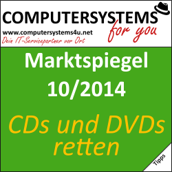 Marktspiegel 10/2014 – Original-CDs und DVDs retten