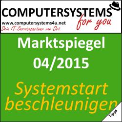 Marktspiegel 04/2015 – Systemstart beschleunigen