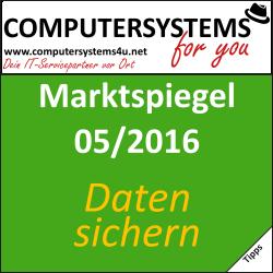 Marktspiegel 05/2016: Datensicherung