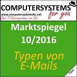 Marktspiegel 10 2016: E-Mail-Typen und -Signaturen