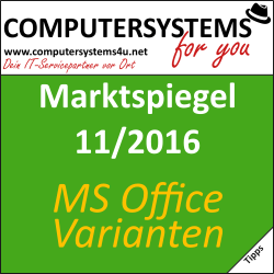Marktspiegel 11 2016: Office-Varianten