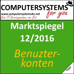 Marktspiegel 12/2016: Benutzerkonten