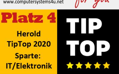Platz 4 im Herold TipTop 2020