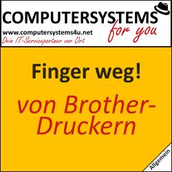 Finger weg von Brother-Druckern